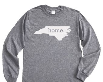 Homeland Tees North Carolina Home Long Sleeve Shirt