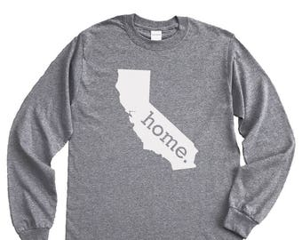 Homeland Tees California Home Long Sleeve Shirt