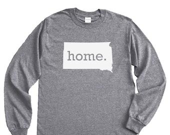 Homeland Tees South Dakota Home Long Sleeve Shirt