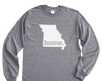 Homeland Tees Missouri Home Long Sleeve Shirt