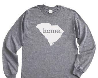 Homeland Tees South Carolina Home Long Sleeve Shirt