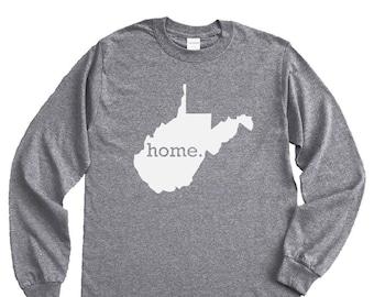 Homeland Tees West Virginia Home Long Sleeve Shirt
