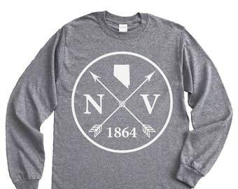 Homeland Tees Nevada Arrow Long Sleeve Shirt