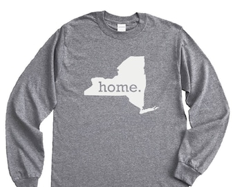 Homeland Tees New York Home Long Sleeve Shirt