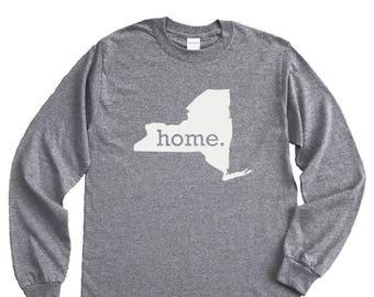 Homeland Tees New York Home Long Sleeve Shirt