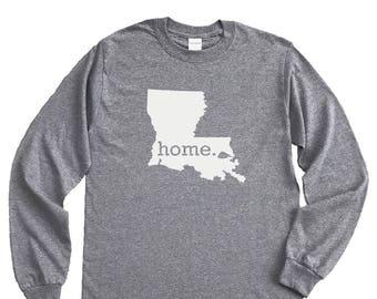 Homeland Tees Louisiana Home Long Sleeve Shirt