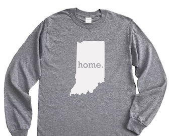 Homeland Tees Indiana Home Long Sleeve Shirt