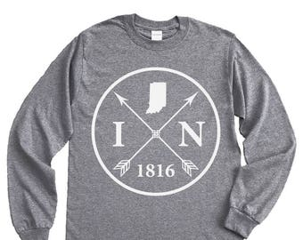 Homeland Tees Indiana Arrow Long Sleeve Shirt