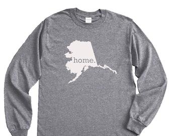 Homeland Tees Alaska Home Long Sleeve Shirt