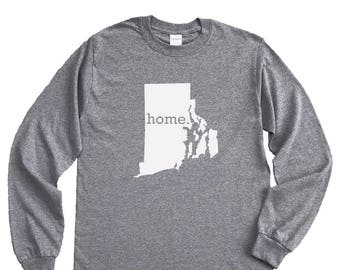 Homeland Tees Rhode Island Home Long Sleeve Shirt
