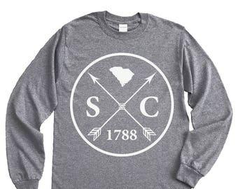 Homeland Tees South Carolina Arrow Long Sleeve Shirt