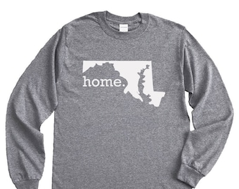 Homeland Tees Maryland Home Long Sleeve Shirt