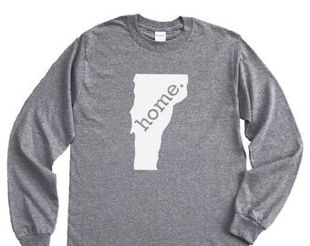 Homeland Tees Vermont Home Long Sleeve Shirt