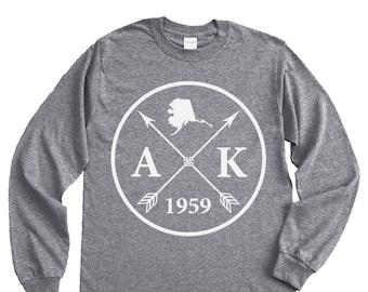 Homeland Tees Alaska Arrow Long Sleeve Shirt