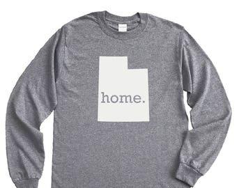 Homeland Tees Utah Home Long Sleeve Shirt