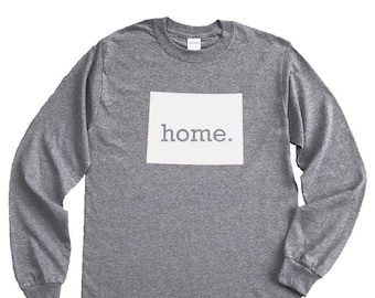 Homeland Tees Wyoming Home Long Sleeve Shirt
