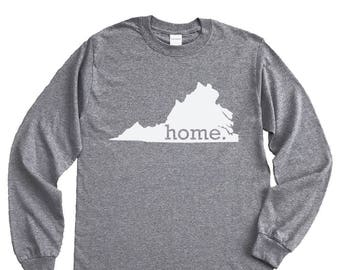 Homeland Tees Virginia Home Long Sleeve Shirt