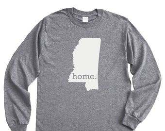 Homeland Tees Mississippi Home Long Sleeve Shirt