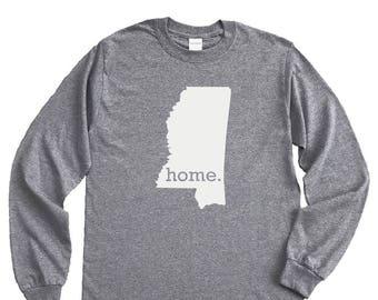 Homeland Tees Mississippi Home Long Sleeve Shirt