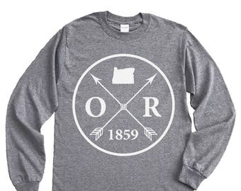 Homeland Tees Oregon Arrow Long Sleeve Shirt