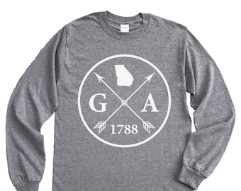 Homeland Tees Georgia Arrow Long Sleeve Shirt