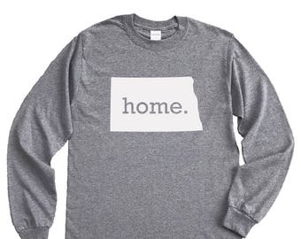 Homeland Tees North Dakota Home Long Sleeve Shirt