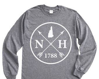 Homeland Tees New Hampshire Arrow Long Sleeve Shirt