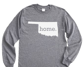 Homeland Tees Oklahoma Home Long Sleeve Shirt