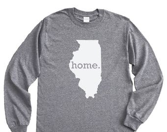 Homeland Tees Illinois Home Long Sleeve Shirt