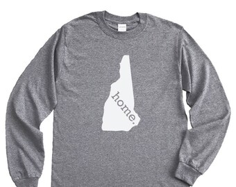 Homeland Tees New Hampshire Home Long Sleeve Shirt