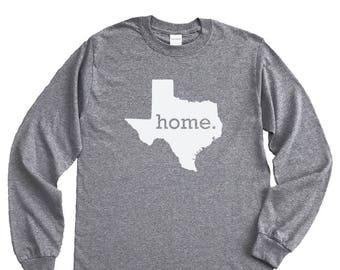 Homeland Tees Texas Home Long Sleeve Shirt