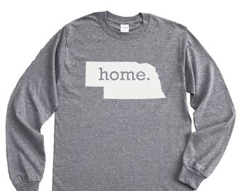 Homeland Tees Nebraska Home Long Sleeve Shirt
