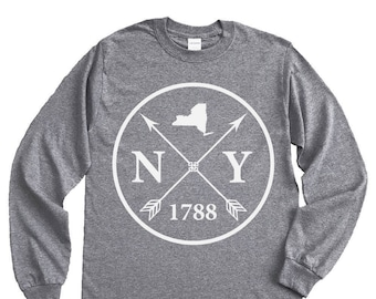 Homeland Tees New York Arrow Long Sleeve Shirt
