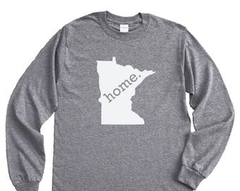 Homeland Tees Minnesota Home Long Sleeve Shirt