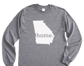 Homeland Tees Georgia Home Long Sleeve Shirt