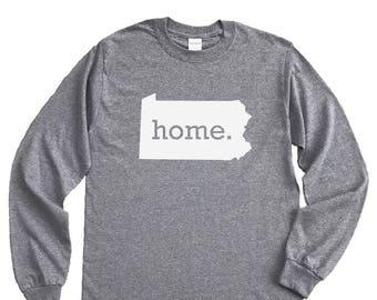 Homeland Tees Pennsylvania Home Long Sleeve Shirt