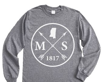 Homeland Tees Mississippi Arrow Long Sleeve Shirt