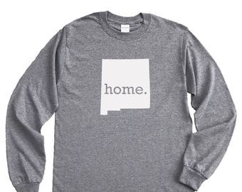 Homeland Tees New Mexico Home Long Sleeve Shirt