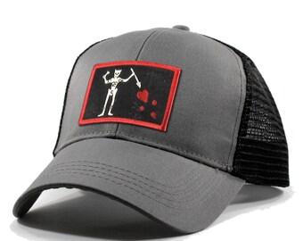 Homeland Tees Blackbeard Pirate Flag Trucker Hat