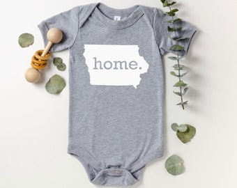 Homeland Tees Iowa Home Bodysuit Coming Home Outfit Shower Gift Newborn Baby Boy Girl