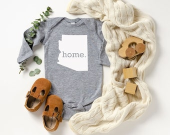 Homeland Tees Arizona Home Unisex Long Sleeve Baby Bodysuit