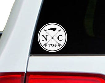 North Carolina Arrow Year Car Window Decal Sticker