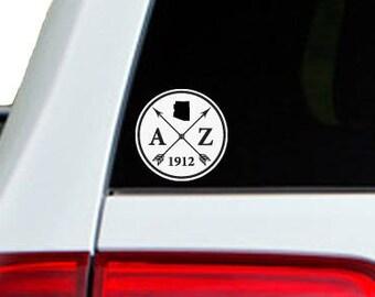 Arizona Arrow Year Car Window Decal Sticker