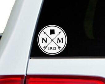 New Mexico Arrow Year Car Window Decal Sticker
