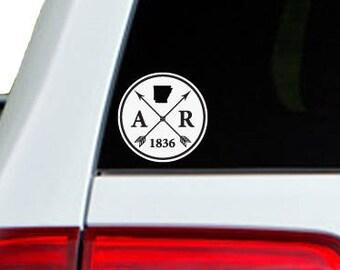 Arkansas Arrow Year Car Window Decal Sticker