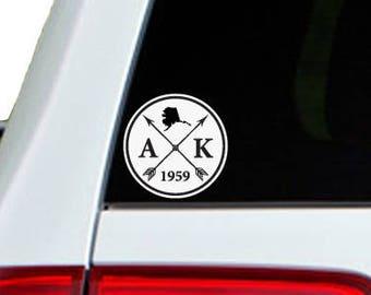 Alaska Arrow Year Car Window Decal Sticker
