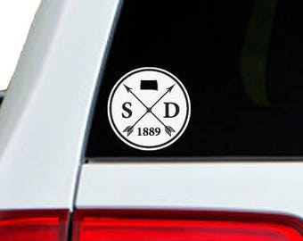 South Dakota Arrow Year Car Window Decal Sticker