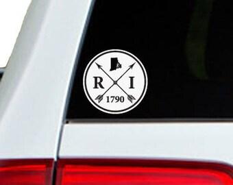 Rhode Island Arrow Year Car Window Decal Sticker