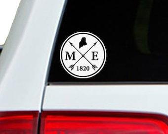 Maine Arrow Year Car Window Decal Sticker