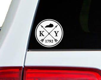 Kentucky Arrow Year Car Window Decal Sticker